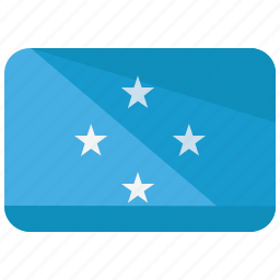 federated, flag, map, micronesia, states, world icon