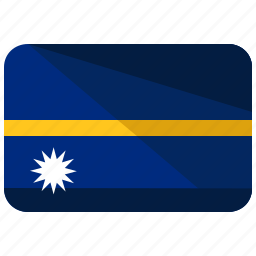 country, flag, location, map, nauru, world icon