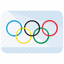 flag, olympics icon