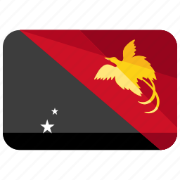 country, flag, guinea, location, new, papua, world icon
