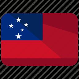 country, flag, location, map, samoa, world icon