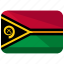 country, flag, location, map, vanuatu, world icon