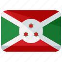 africa, burundi, country, flag, location, map, nation icon