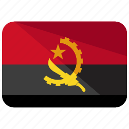 africa, angola, country, flag, location, map, nation icon
