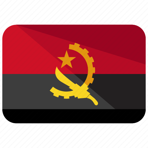 angola, country, flag icon