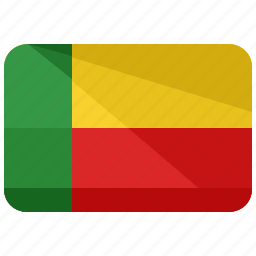 africa, benin, country, flag, location, map, nation icon