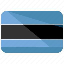 africa, botswana, country, flag, location, map, nation icon