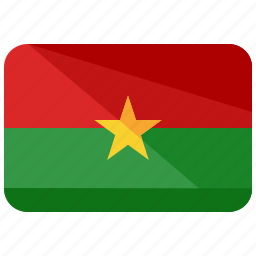 burkino, country, faso, flag, location, map, nation icon