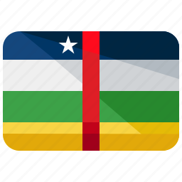 africa, central, country, flag, location, map, republic icon