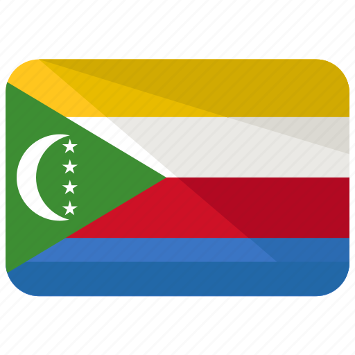 africa, comoros, country, flag, location, map, nation icon
