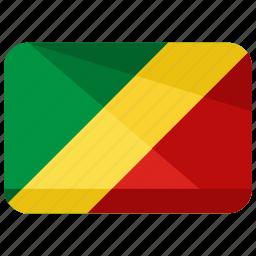 congo, country, flag, republic icon