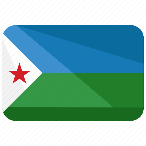 country, djibouti, flag, location, map, nation icon