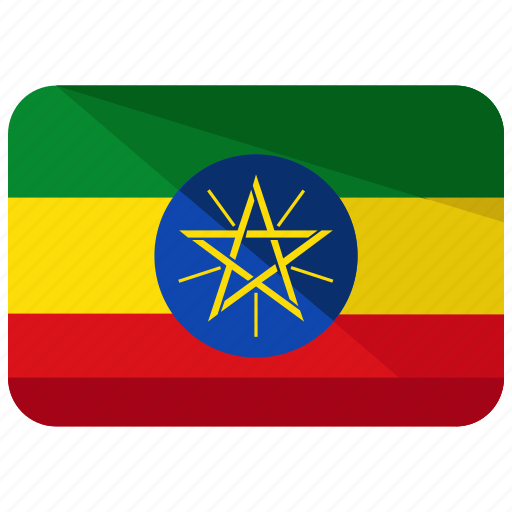 country, ethiopia, flag, location, map, nation icon