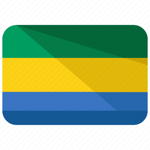 africa, country, flag, gabon, location, map, nation icon