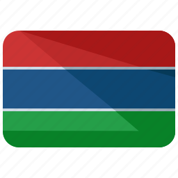 africa, country, flag, gambia, location, map, nation icon