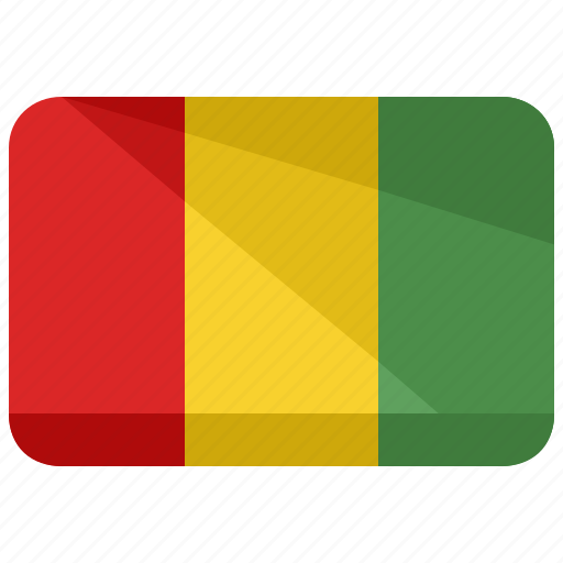 country, flag, guinea, location, nation, world icon