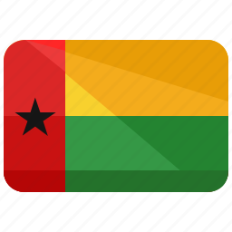 africa, bissau, country, flag, guinea, map, nation icon