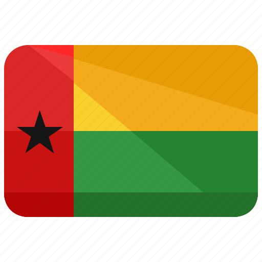 bissau, country, flag, guinea icon