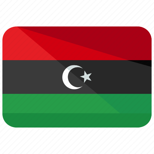 africa, country, flag, libya, location, map, nation icon