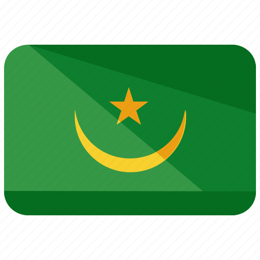 africa, country, flag, location, map, mauritania, nation icon