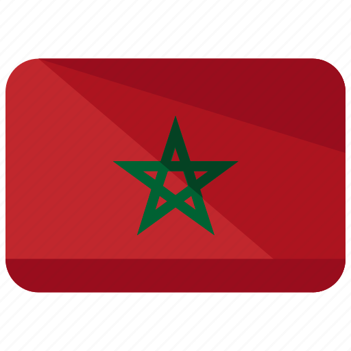 country, flag, location, morocco, nation, world icon