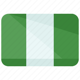 africa, country, flag, location, map, nation, nigeria icon
