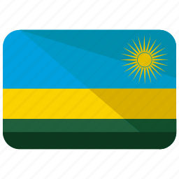 africa, country, flag, location, map, nation, rwanda icon