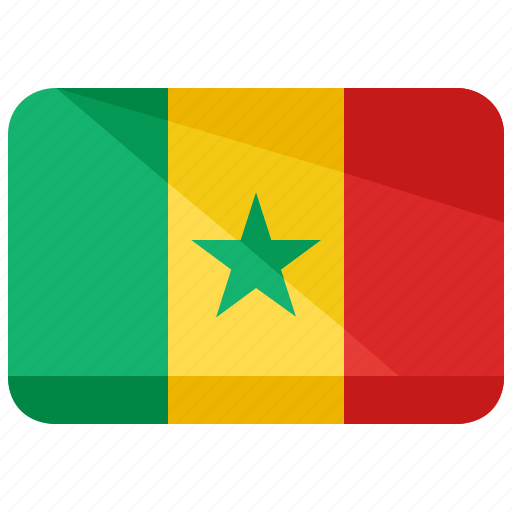 country, flag, location, map, nation, senegal icon