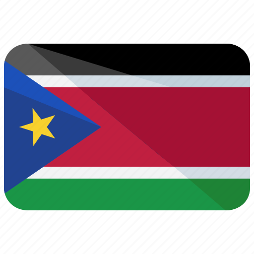 africa, country, flag, map, nation, south, sudan icon