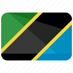 country, flag, location, map, nation, tanzania icon