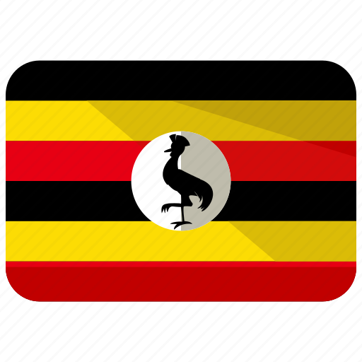 country, flag, location, map, nation, uganda icon