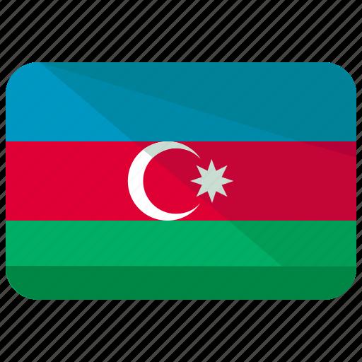 asia, azerbaijan, country, flag, location, map, nation icon