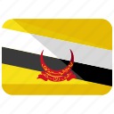 brunei, country, darussalam, flag icon