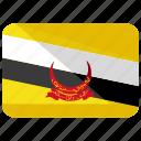 brunei, country, darussalam, flag