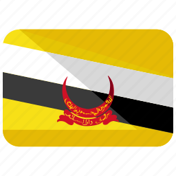 asia, brunei, country, darussalam, flag, map, world icon