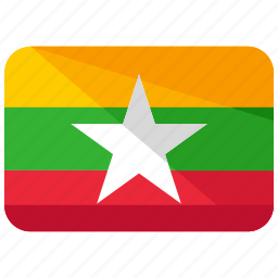 asia, burma, country, flag, location, map, world icon