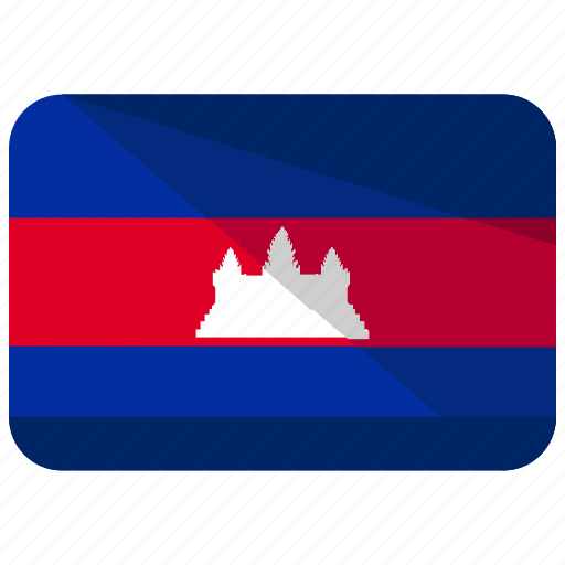 cambodia, country, flag icon