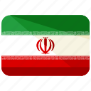 asia, country, flag, iran, location, map, world icon