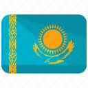asia, country, flag, kazakhstan, location, map, world icon
