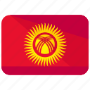 asia, country, flag, kyrgyzstan, location, map, nation icon