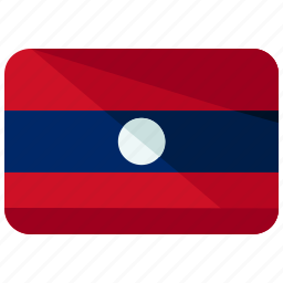 asia, country, flag, laos, location, map, world icon