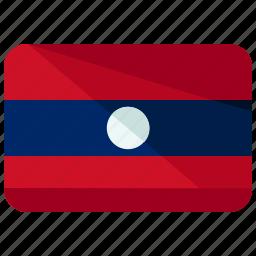 country, flag, laos icon