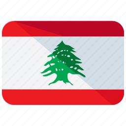asia, country, flag, lebanon, location, map, nation icon