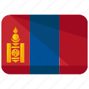country, flag, mongolia icon