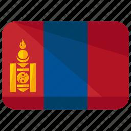 country, flag, mongolia icon