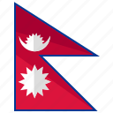 country, nepal, flag