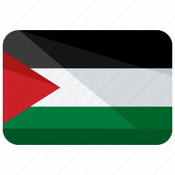 asia, country, flag, location, map, palestine, world icon