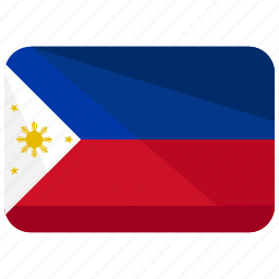 asia, country, flag, location, map, philippines, world icon