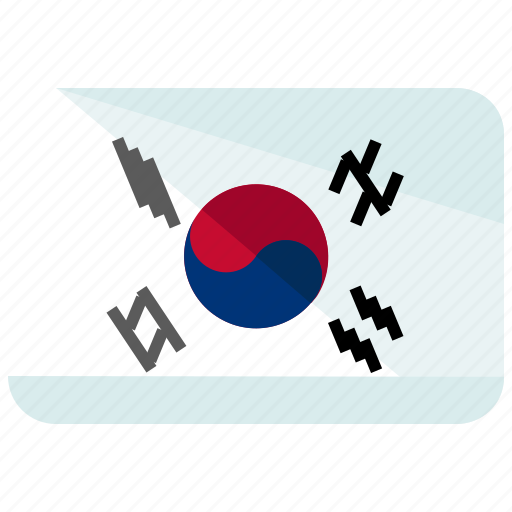 asia, country, flag, korea, location, map, south icon