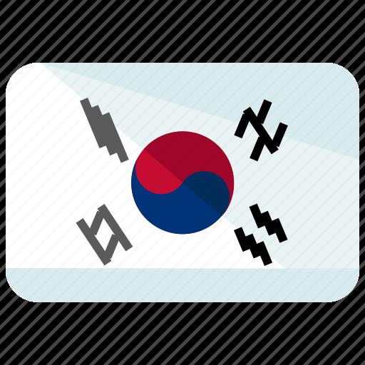 country, flag, korea icon
